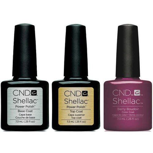 CND - Shellac Combo - Base, Top & Berry Boudier
