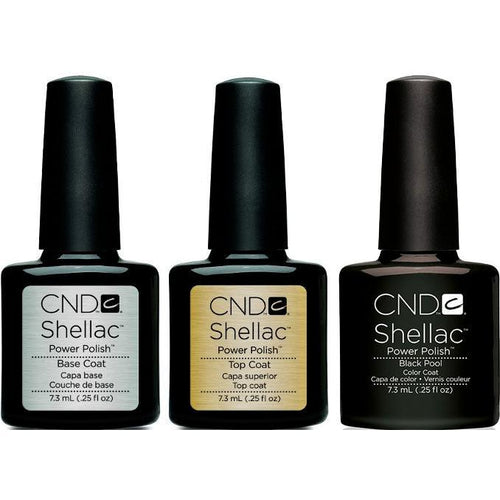 CND - Shellac Combo - Base, Top & Black Pool