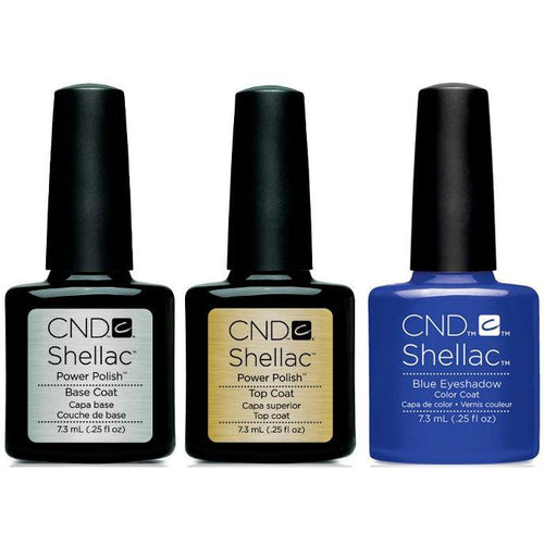 CND - Shellac Combo - Base, Top & Blue Eyeshadow