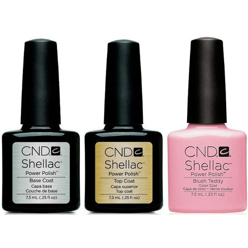 CND - Shellac Combo - Base, Top & Blush Teddy