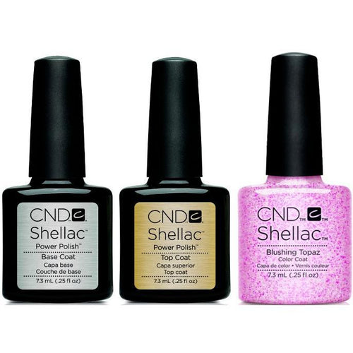 CND - Shellac Combo - Base, Top & Blushing Topaz
