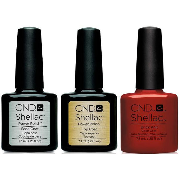CND - Shellac Combo - Base, Top & Brick Knit