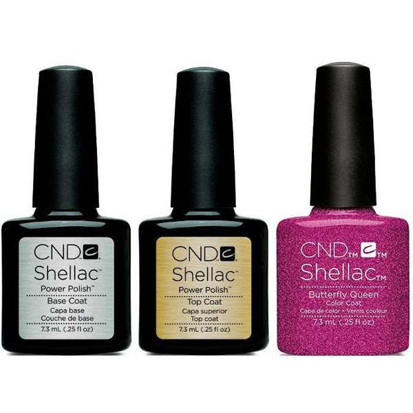 CND - Shellac Combo - Base, Top & Butterfly Queen