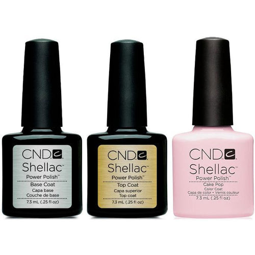 CND - Shellac Combo - Base, Top & Cake Pop