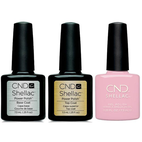 CND - Shellac Combo - Base, Top & Carnation Bliss