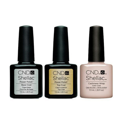 CND - Shellac Combo - Base, Top & Cashmere Wrap