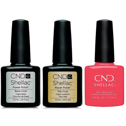 CND - Shellac Combo - Base, Top & Charm