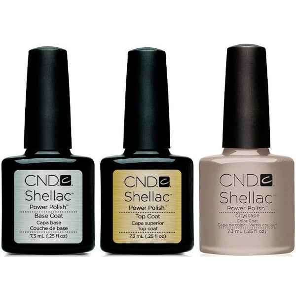 CND - Shellac Combo - Base, Top & Cityscape