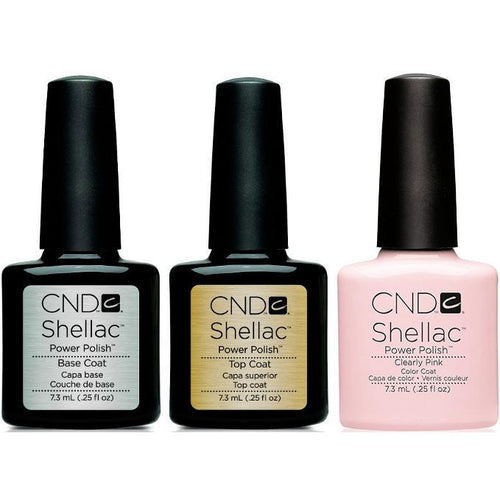 CND - Shellac Combo - Base, Top & Clearly Pink