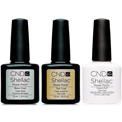 CND - Shellac Combo - Base, Top & Cream Puff