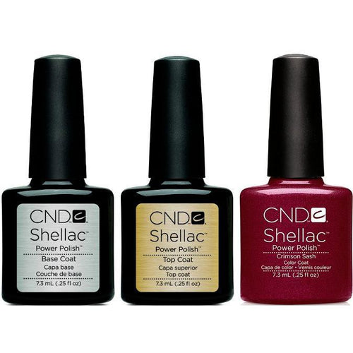 CND - Shellac Combo - Base, Top & Crimson Sash