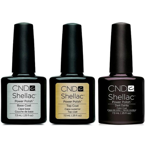 CND - Shellac Combo - Base, Top & Dark Dahlia