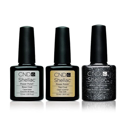 CND - Shellac Combo - Base, Top & Dark Diamond