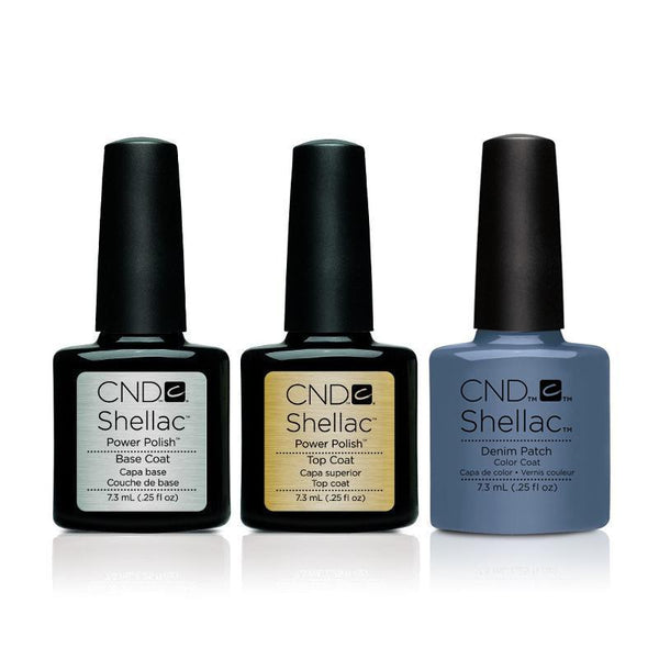 CND - Shellac Combo - Base, Top & Denim Patch