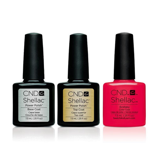 CND - Shellac Combo - Base, Top & Ecstasy