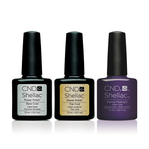 CND - Shellac Combo - Base, Top & Eternal Midnight