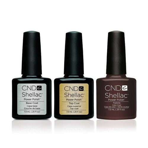 CND - Shellac Combo - Base, Top & Fedora