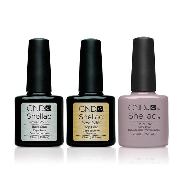 CND - Shellac Combo - Base, Top & Field Fox