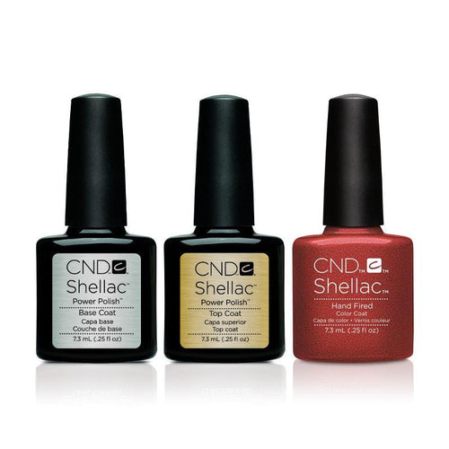 CND - Shellac Combo - Base, Top & Hand Fired