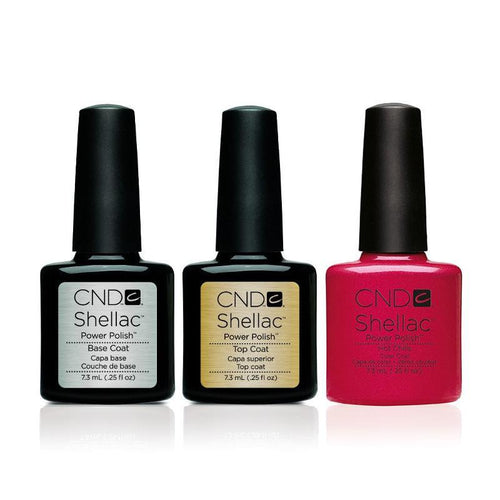 CND - Shellac Combo - Base, Top & Hot Chilis