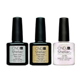 CND - Shellac Combo - Base, Top & Rose Bud