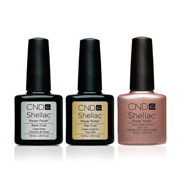 CND - Shellac Combo - Base, Top & Iced Cappucino