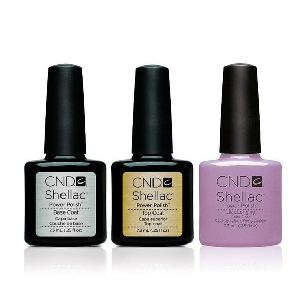 CND - Shellac Combo - Base, Top & Lilac Longing