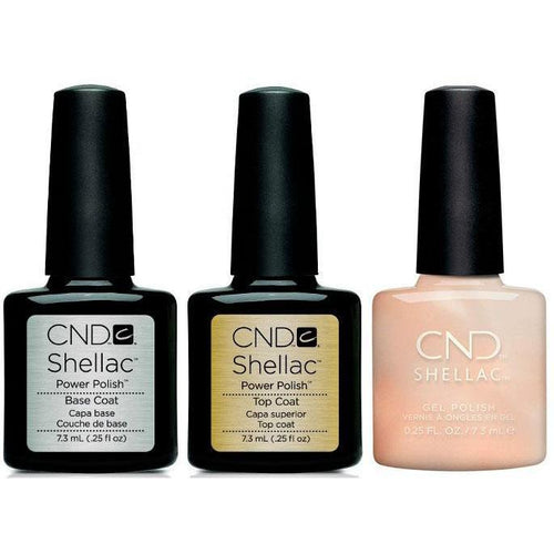CND - Shellac Combo - Base, Top & Lovely Quartz