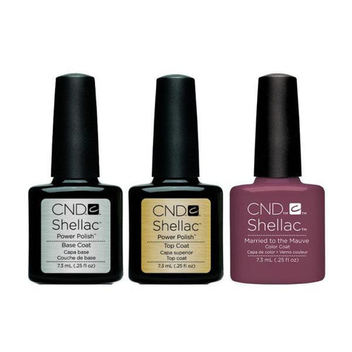 CND - Shellac Combo - Base, Top & Married To Mauve