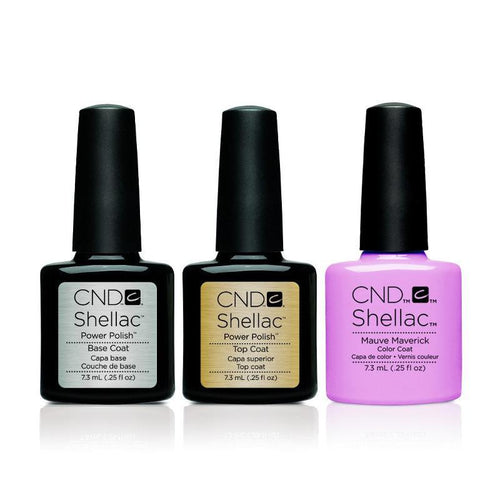 CND - Shellac Combo - Base, Top & Mauve Maverick