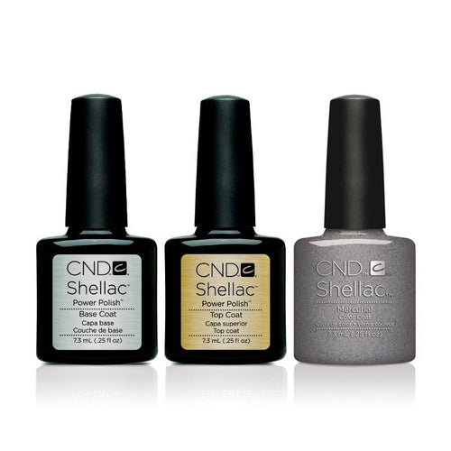 CND - Shellac Combo - Base, Top & Mercurial
