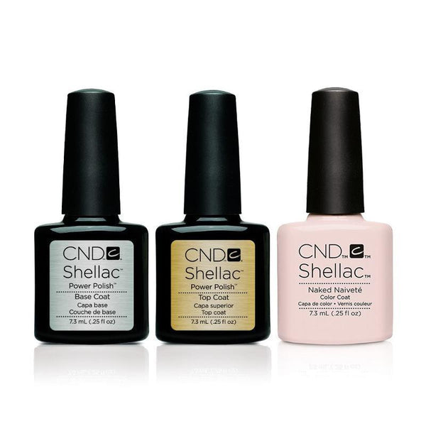 CND - Shellac Combo - Base, Top & Naked Naivete