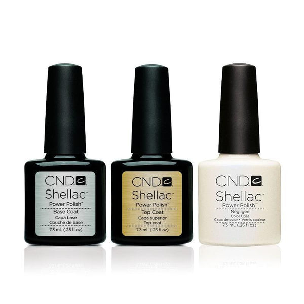 CND - Shellac Combo - Base, Top & Negligee