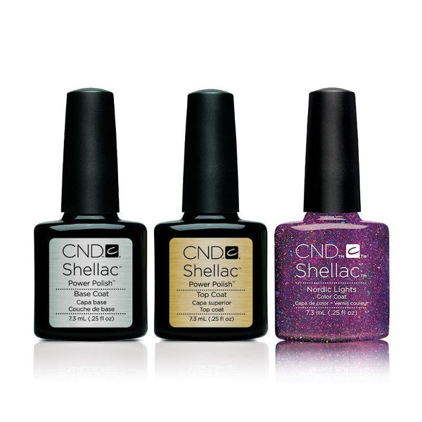 CND - Shellac Combo - Base, Top & Nordic Lights
