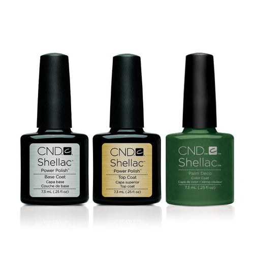 CND - Shellac Combo - Base, Top & Palm Deco