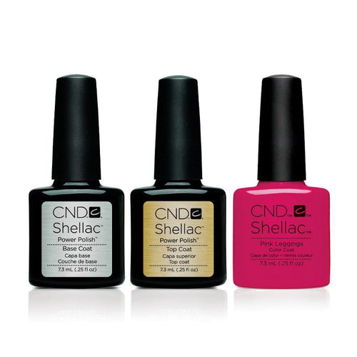 CND - Shellac Combo - Base, Top & Pink Leggings