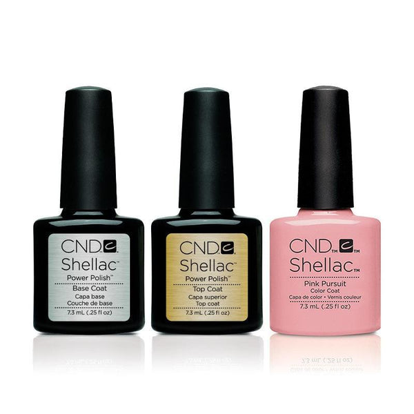 CND - Shellac Combo - Base, Top & Pink Pursuit
