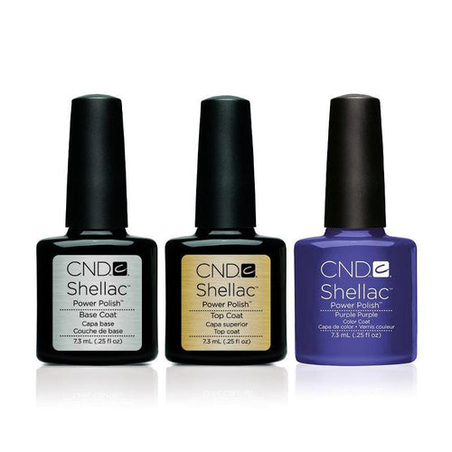 CND - Shellac Combo - Base, Top & Purple Purple