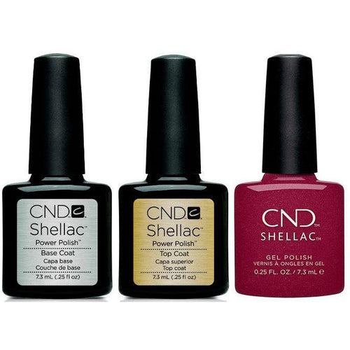 CND - Shellac Combo - Base, Top & Rebellious Ruby