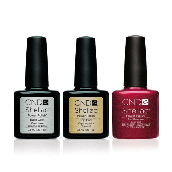 CND - Shellac Combo - Base, Top & Red Baroness
