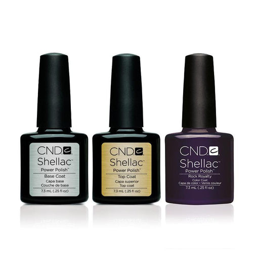 CND - Shellac Combo - Base, Top & Rock Royalty