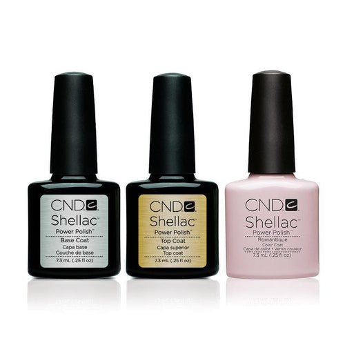 CND - Shellac Combo - Base, Top & Romantique