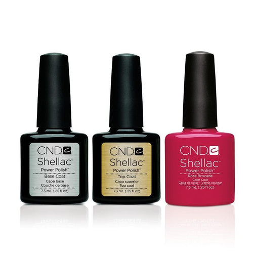 CND - Shellac Combo - Base, Top & Rose Brocade