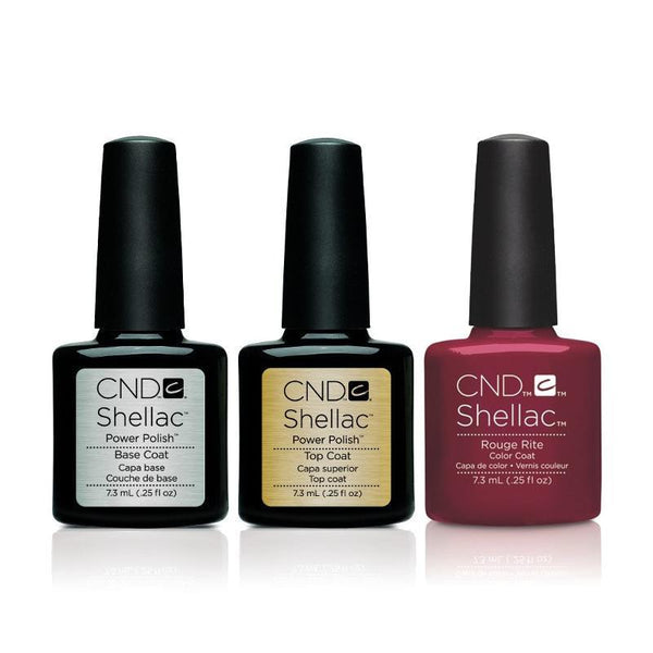 CND - Shellac Combo - Base, Top & Rouge Rite