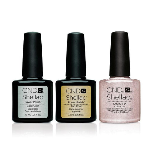 CND - Shellac Combo - Base, Top & Safety Pin