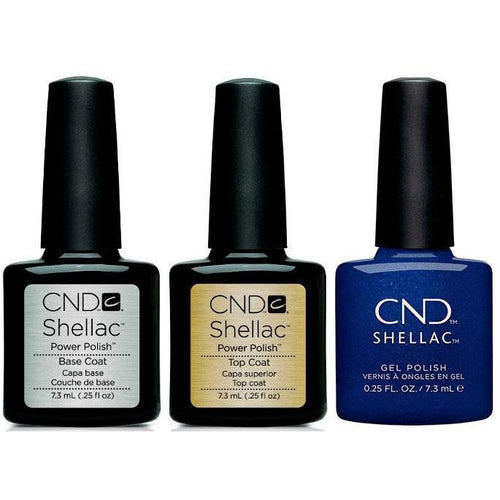 CND - Shellac Combo - Base, Top & Sassy Sapphire