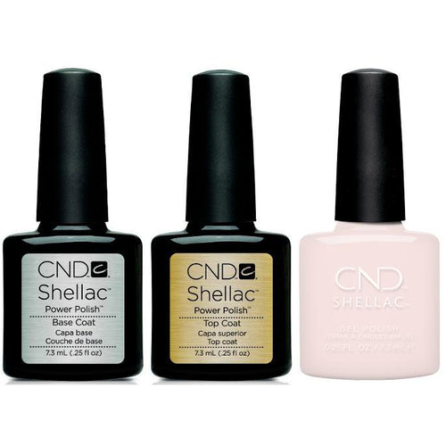 CND - Shellac Combo - Base, Top & Satin Slippers