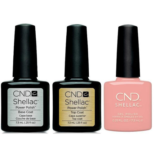 CND - Shellac Combo - Base, Top & Soft Peony