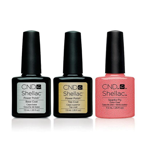 CND - Shellac Combo - Base, Top & Sparks Fly
