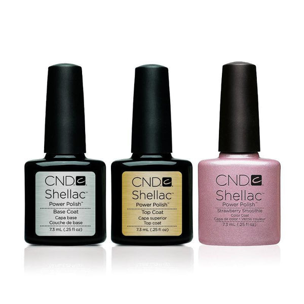 CND - Shellac Combo - Base, Top & Strawberry Smoothie